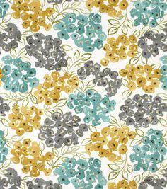 Robert Allen@Home Best Home Decor Print Fabric Floral Pool