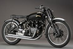 """In 1948, Vincent launched a production version of its Black Lightning land speed record holder. It immediately claimed the title of """"Fastest production motorcycle in the world"""", but only 31 were built. They came with magnesium components to cut weight to 380 lb (170 kg) or so, plus race tires and rearsets"""