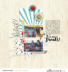 FREE Digital Scrapbooking Template / Sketch | May '20 | Sahlin Studio | Digital Scrapbooking Designs
