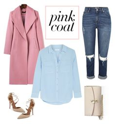 """""""Pink Coat"""" by iconicalist on Polyvore featuring River Island, Aquazzura, WithChic, Equipment and Dolce&Gabbana"""