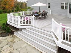 Did you know that you can build-in a storage area or even another complete outdoor living space under an elevated deck? Patio Steps, Deck Vs Patio, Patio Deck Designs, Back Patio, Backyard Patio, Outside Living, Outdoor Living, Backyard Makeover, Decks And Porches