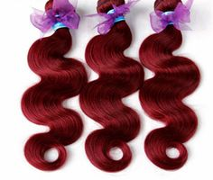 Burgundy Peruvian  Virgin Hair Body Wave 3pc by HAIRONTHEGO on Etsy