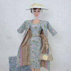 OOAK-Handmade Vintage Barbie/Silkstone Fashoin by Roxy-Floral Outfit-13pcs | eBay