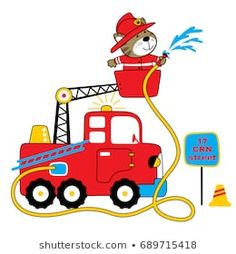Find Firefighter Vector Cartoon Illustration stock images in HD and millions of other royalty-free stock photos, illustrations and vectors in the Shutterstock collection. Baby Posters, Cartoon Posters, Cartoon Cartoon, Cartoon Drawings, Animal Drawings, Kids Prints, Baby Prints, Construction Images, Baby Illustration