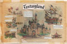 Fantasyland Centerfold with Type Overlay, 1955