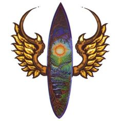 Surfboard Horned Wings Temporaray Tattoo >>> Want to know more, click on the image. (This is an affiliate link) #TemporaryTattoos