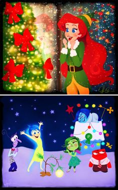Artist Dylan Bonner has released a wonderful new collection featuring some of our favorite Disney characters in their best holiday movie look.