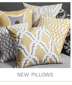 I have some of these patterns in my living room.  Love the grey and yellow together