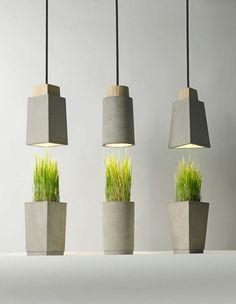 Voici une belle gamme de lampes en béton toute simples mais dans le pur style…