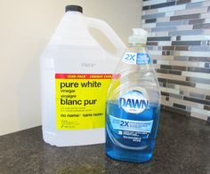 The Dawn and vinegar magic cleaning potion.