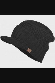 Shop Men's Stylish Knit Visor Brim Beanie Hats Fleece Lined Skull Ski Caps - Black now save up 50% off, free shipping worldwide and free gift, Support wholesale quotation! Visor Beanie, Visor Hats, Beanie Hats, Beanies, Disney Crochet Patterns, Winter Knit Hats, Mens Caps, Hats For Men, Knitted Hats