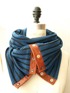 Chunky stripes circular infinity scarf last one by System63