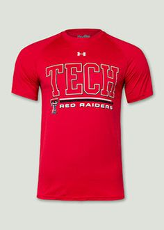 Under Armour® Tech Over Red Raiders Red Tee. Red Raider Outfitter.