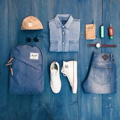 Outfit grid - Double denim