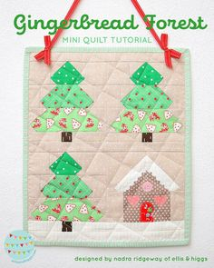 Christmas Mini Quilt Tutorial - in this tutorial I'm showing you how to make this adorable Christmas mini quilt. Click here for more infos!