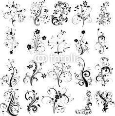 silhouetteS FLOWERS - Buscar con Google