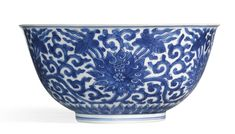 A BLUE AND WHITE 'LOTUS' BOWL<br>KANGXI MARK AND PERIOD | Lot | Sotheby's