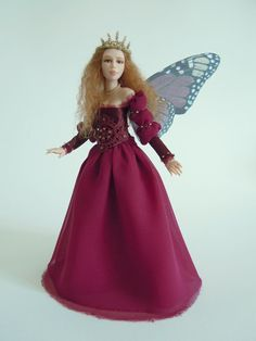 "OOAK ART DOLL ""Arwen"" sculpture fantasy fairy in polymer clay"
