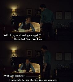Hannibal & Will (Will's naked again!)