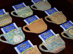 Papercraft:  tea bag holders