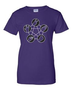 XXX-Large Purple Womens Rock Paper Scissors Lizard Spock Big Bang Theory Inspired T-Shirt
