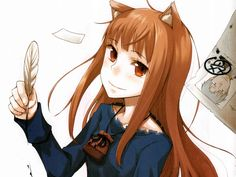 Spice and Wolf Holo The Wise Wolf wallpaper Background Hd Wallpaper, Wolf Wallpaper, Anime Oc, Anime Neko, Spice And Wolf Holo, Manga, Wolf Deviantart, Anime Wolf Girl, Anime Girls