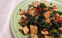 Vegaanihaaste - Tofua ja lehtikaalia sitruuna-chilikastikkeessa Vegan Recepies, Palak Paneer, Tofu, Healthy Recipes, Healthy Food, Chili, Cooking, Ethnic Recipes, 31