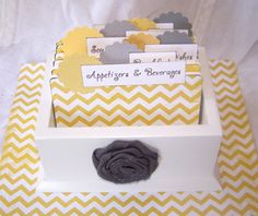 Hey, I found this really awesome Etsy listing at http://www.etsy.com/listing/106694612/recipe-box-and-cards-chevron-dividers