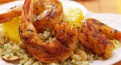 Paprika Spiced Shrimp with Citrus Cilantro Quinoa Salad