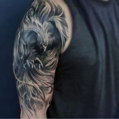 Greek Mythology Badass Phoenix Mens Half Sleeve Tattoos