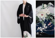 Oriental Kimono - Tomesode - Silk Kimono - Vintage Japanese Kimono - Stunning Floral Kimono - Original Japanese Wear - Japanese Silk Kimono