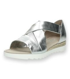 Zilveren sandalen Gabor