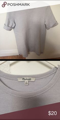 Knit blouse Lift blue knit blouse in excellent condition Madewell Tops Blouses