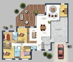 Nice Plan Maison Landaise Traditionnelle that you must know, You?re in good company if you?re looking for Plan Maison Landaise Traditionnelle The Plan, How To Plan, Small House Plans, House Floor Plans, Floor Plan Layout, Corner House, Architecture Plan, House Layouts, Plan Design