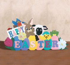 Easter Window Greeting Woodcraft Pattern