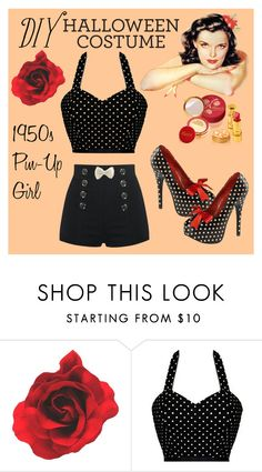 """""""DIY Halloween Costume"""" by rmhodgdon ❤ liked on Polyvore featuring Pinup Couture, GURU, 1950s, pinup and diycostume"""