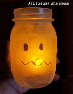 Manualidades de halloween, fantasma linterna, diy kids Manualidades Halloween, Diy, Pumpkins, Activities For Kids, Gatos, Bricolage, Handyman Projects, Do It Yourself, Diys