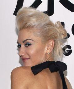 Gwen Stefani Hairstyles | Gwen Stefani Long Straight Hairstyle - Light Blonde (Champagne) - side ...