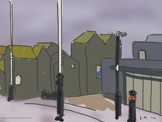 Danny Mooney 'Jerwood and Net huts, 13/11/2014' iPad painting #APAD
