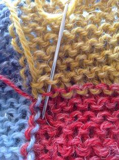 Sådan gør du, en vejledning i at hæfte ender med maskesting, www. Knit Crochet, Creative, Stitch, Knitting, Tips, Crafts, Inspiration, Dyi, Women's Fashion