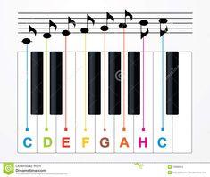 Claves Y Notas Del Piano Del Vector Ilustración del Vector - Imagen: 19388964