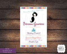 Princess Jasmine Birthday Invitation by SweetHooplaCreations