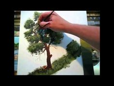 Beginners, Acrylic, Painting ,Tutorial-HOW To Paint A Tree