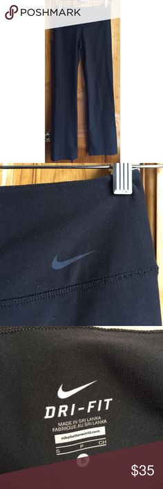 """30%OFF BUNDLES Nike Classic Legendary DriFit Pants You cannot go wrong with these Nike workout pants. A true classic, Nike has been selling these for over decades! Hidden key pocket on waist. Recycled breathable material. Waist:14"""" (unstretched) Inseam:32"""" All measurements are taken with the item laid flat.  Condition:Excellent Used Condition Material:See photos Color:Black 30% off on bundles.I ship same-day from pet/smoke-free home.Buy with confidence.I am a top seller with close to 600…"""