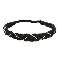 Women Girls Braided Wig Ponytail Elastic Rope Pretty Charming Hair Band Headband Acce - Black, Free Size - Brought to you by Avarsha.com