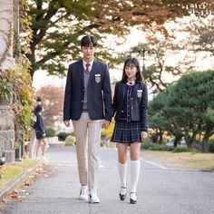 """[Photos] New Stills Added for the Korean Drama """"Extraordinary You"""" @ HanCinema :: The Korean Movie and Drama Database Korean Drama Romance, Korean Drama Movies, Korean Actors, Cute Korean, Korean Girl, School Uniform Fashion, Korean Uniform School, Korean Best Friends, Kpop Couples"""