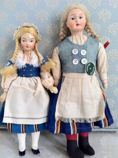 """Finish Girl (collection of Rebekah M. Bales-Dunford) And another Martha-dool that has incorrectly labelled """"MADE IN AUSTRIA"""", I've got the same doll and its label says. Old And New, Martini, Finland, Harajuku, Label, It Is Finished, Dolls, How To Make, Clothes"""