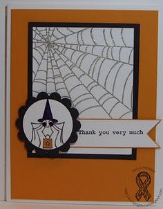 Webful of Thanks... by orangegymnut - Cards and Paper Crafts at Splitcoaststampers
