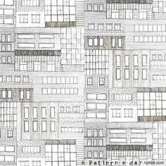 Line Illustration, Pattern Illustration, Illustrations, Fabric Patterns, Print Patterns, Facade Pattern, Visiting Card Design, 2d Art, Built Environment
