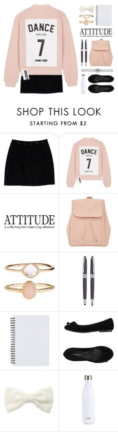 """""""Beginning of School"""" by lover-of-pie ❤ liked on Polyvore featuring Loeffler Randall, Studio Concrete, New Look, Accessorize, Wild & Wolf, PrimaDonna, Forever 21 and S'well"""